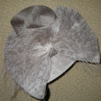 Silver Mother of the Bride Hat (SN222)
